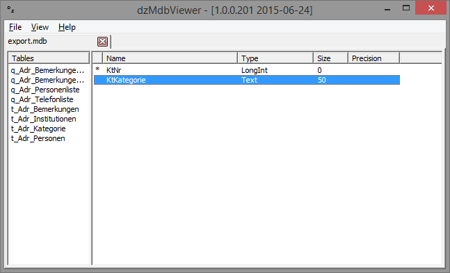 dzmdbviewer  u2013 a viewer for ms access database files  u2013 twm