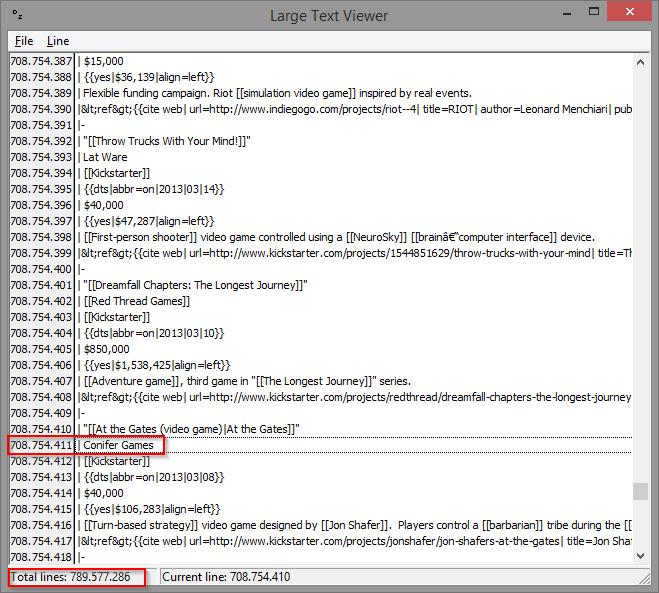 Displaying huge text files – twm's blog