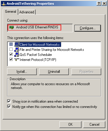 USB tethering a OnePlus One phone to Windows XP – twm's blog